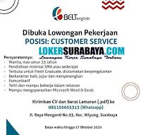 Lowongan Pekerjaan di Belt English Surabaya Oktober 2020