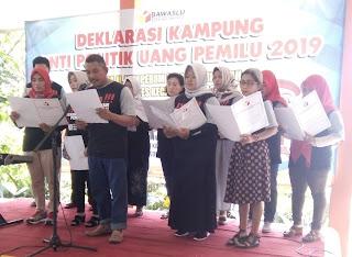 Deklarasi Kampung Anti Politik Uang di Kota Mojokerto, Bawaslu : Satu-satunya di Jatim