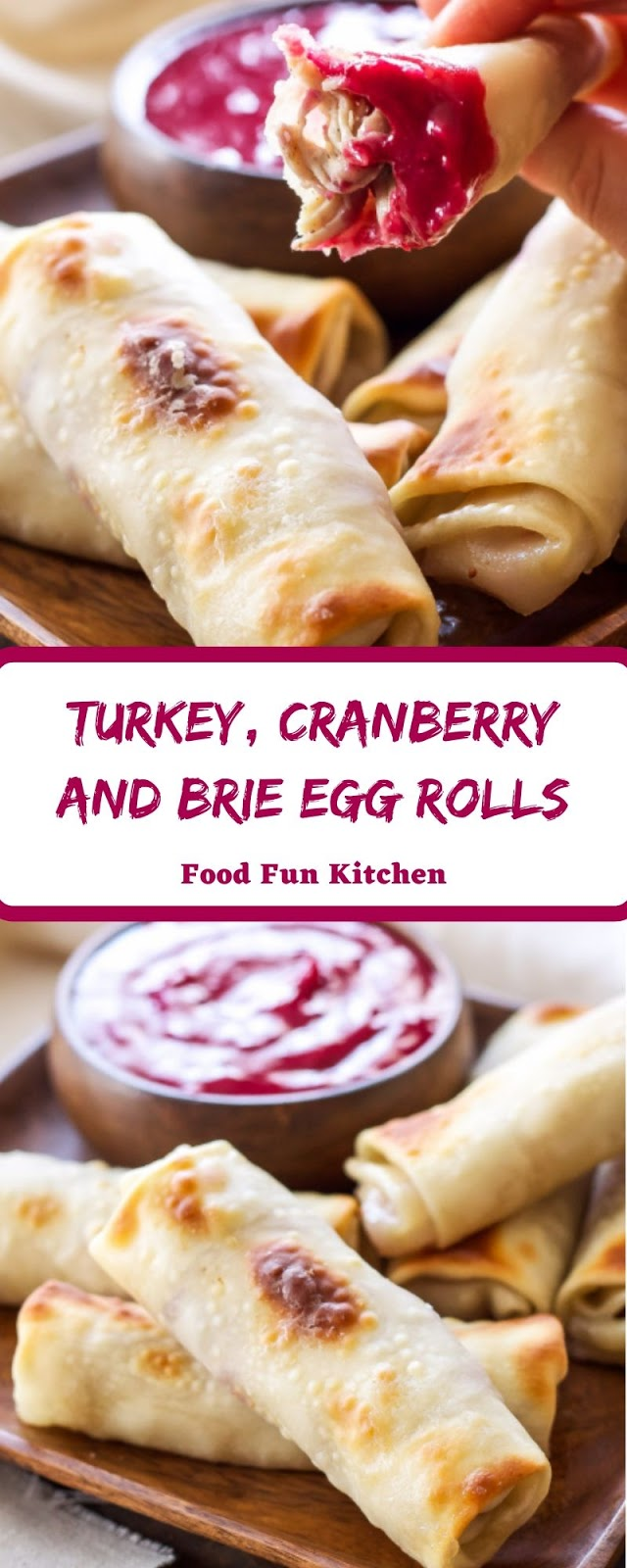 TURKEY, CRANBERRY AND BRIE EGG ROLLS