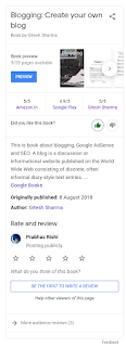 Blogging by Gitesh Geeky book knowledge panel Google