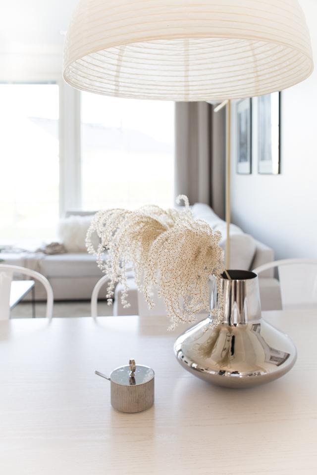 Villa H, ruokapöydällä, sisustus, koti