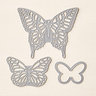 Take a look at the Butterflies Thinlits Dies by Stampin' Up! Three gorgeous butterfly dies that are perfect for any occasion.