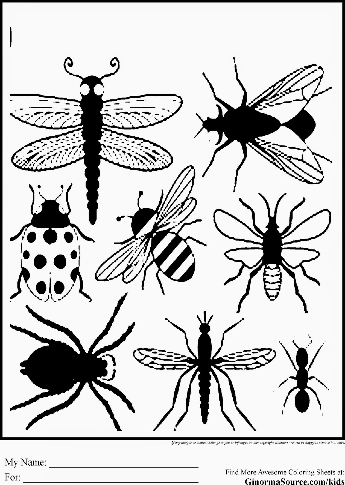 Coloring Pages Of Ladybugs Ladybugs Coloring Page With Coloring
