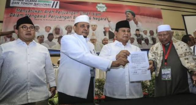 PA 212 Sebut Prabowo Perusak, Guntur Ramli : Sekarang Kalian Tahu Rasa Berkoalisi dengan Kelompok Radikal