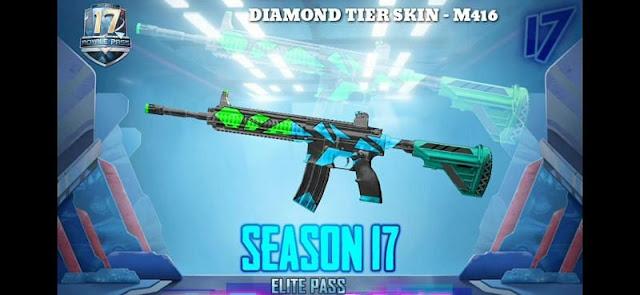 Diamond Tier M416 skin Pubg mobile