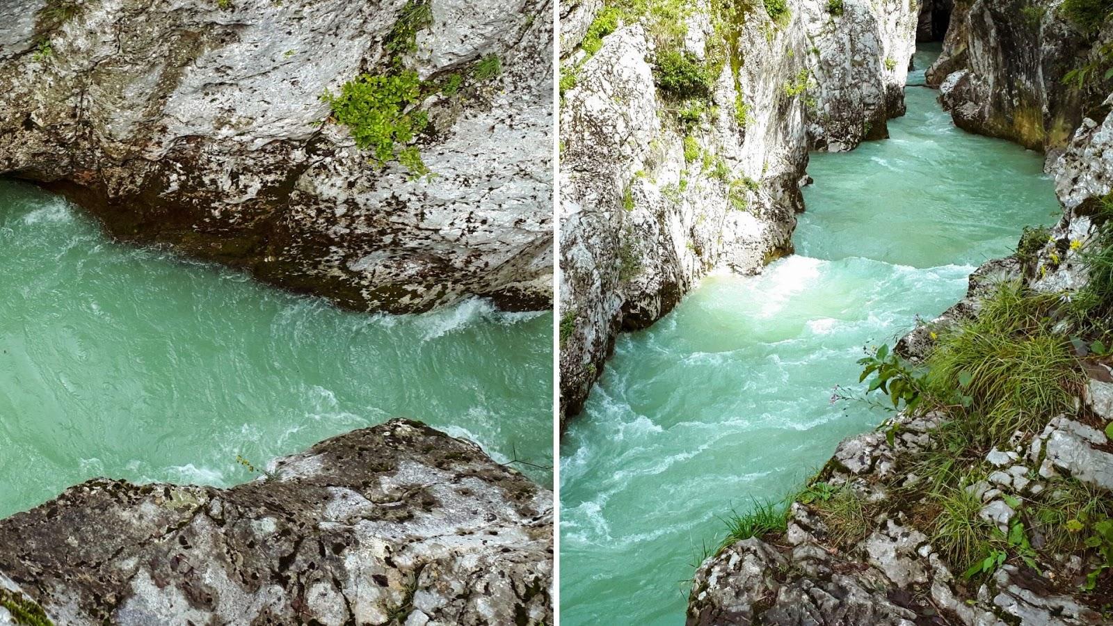 Velika korita Soče Słowenia Dolina Soczy