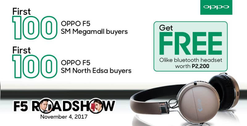 Get Php5,000 Worth of Freebies with OPPO F5's Early Hour Roadshow Offer