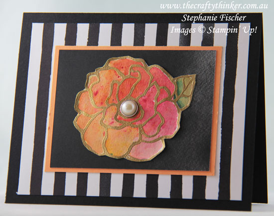 #thecraftythinker, #brusho, #cardmaking, #stampinup, Brusho, Beautiful Day, Flower, Stampin' Up! Australia Demonstrator, Stephanie Fischer, Sydney NSW