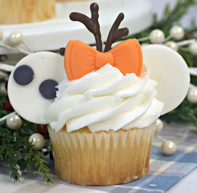 Frozen Olaf Inspired Minnie Mouse Ears Cupcakes Recipe Frozen2
