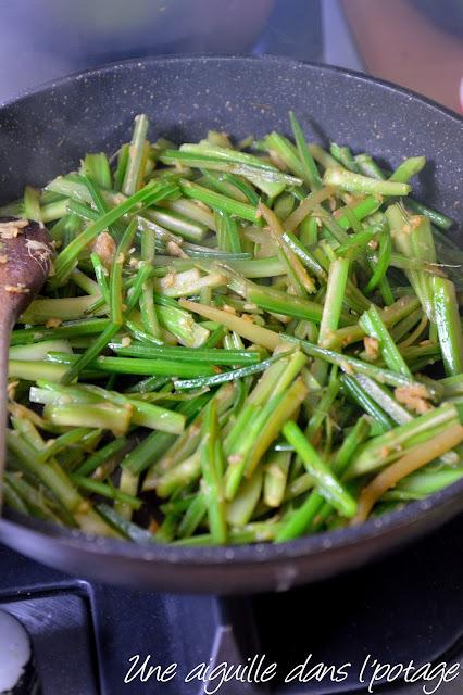 wok de céleri gingembre chinoise