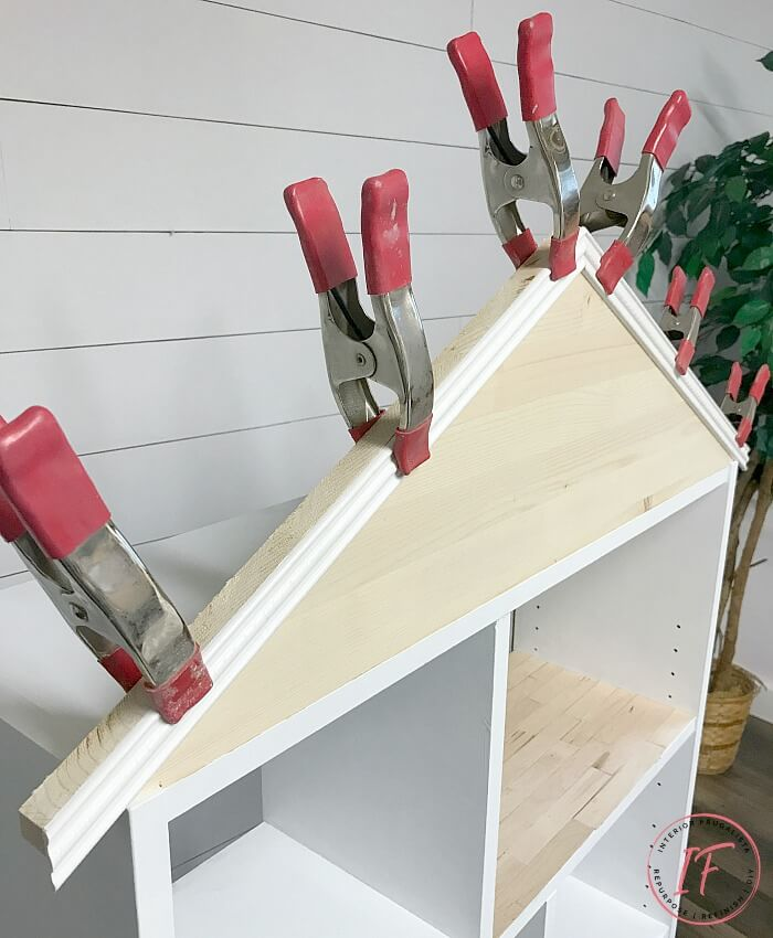 Pitched Roof Dollhouse Bookcase
