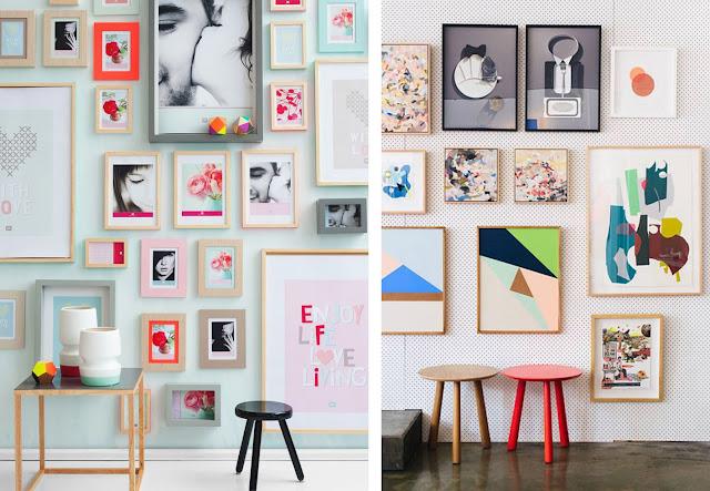 galeria de arte con cuadros