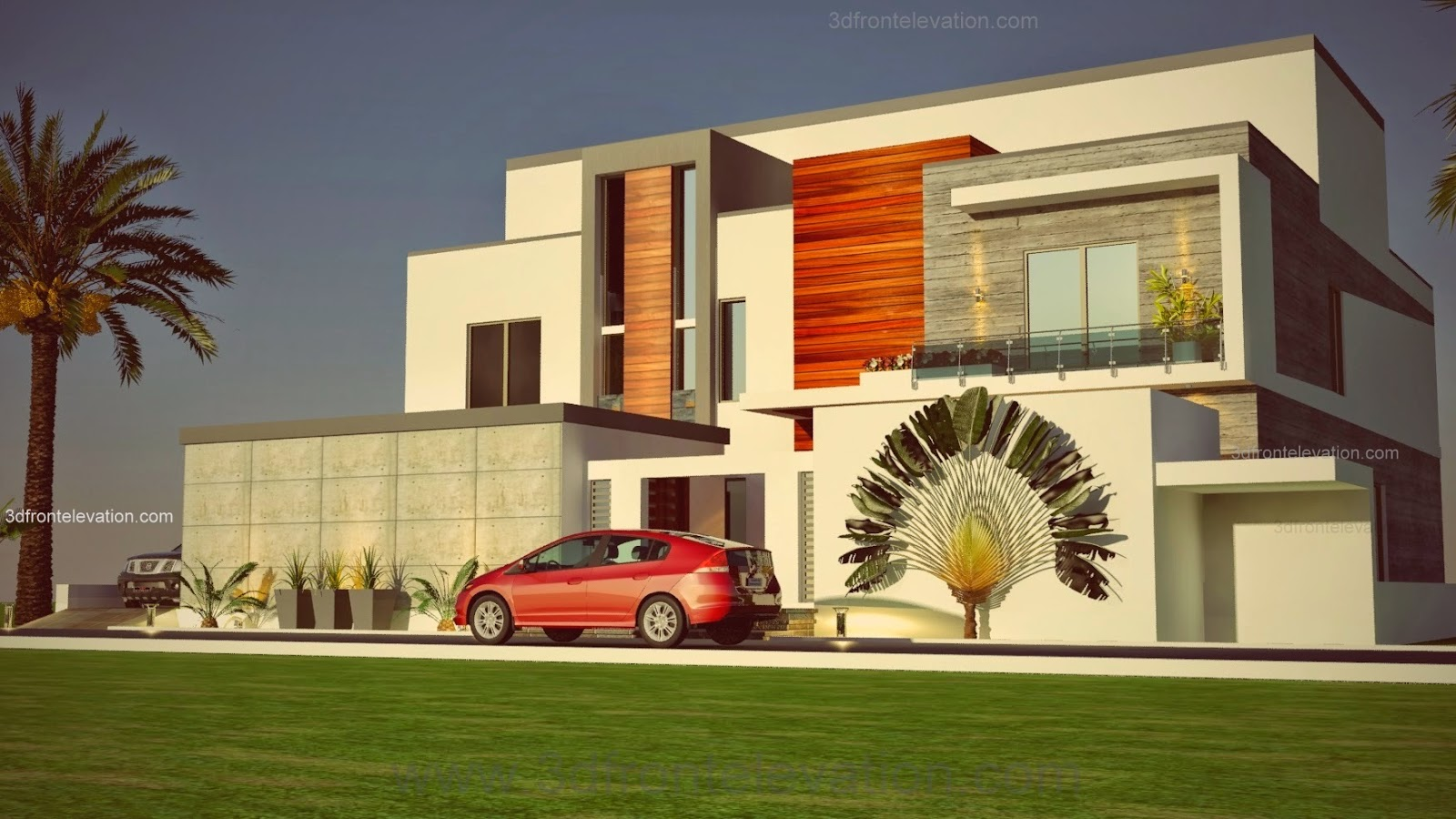 3d front portfolio for Arabian home designs