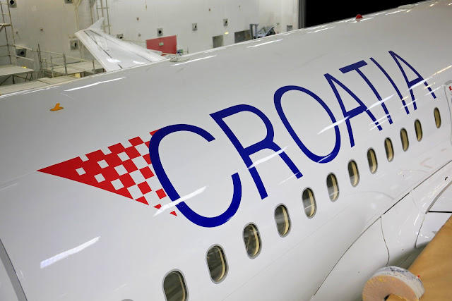 Fuselage of a Croatia Airlines aircraft