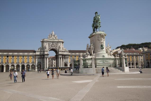 Praça do comercio-Lisbona
