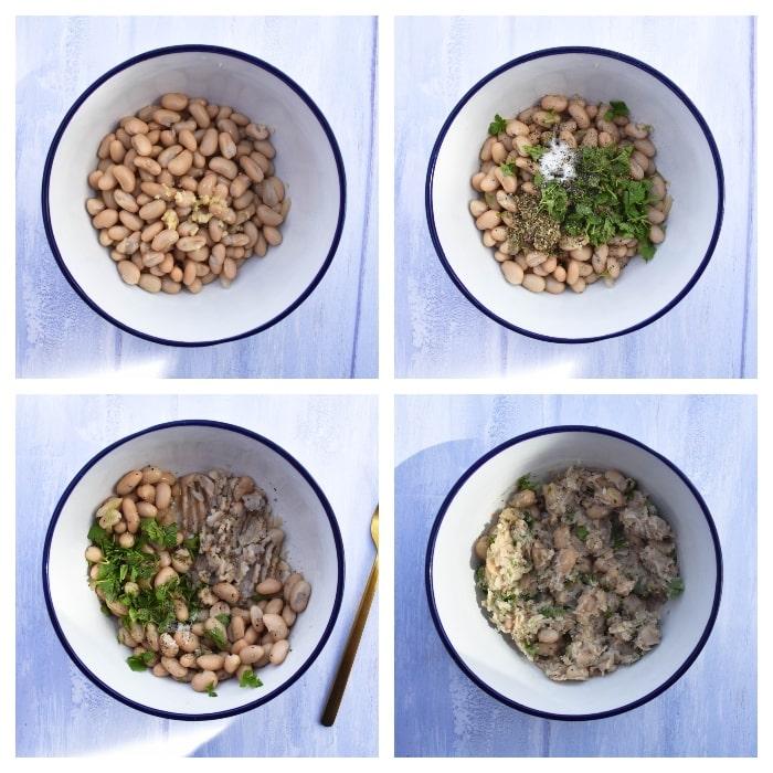 Vegan Italian White Bean & Tomato Sandwich - Step 1 - bean sandwich filler