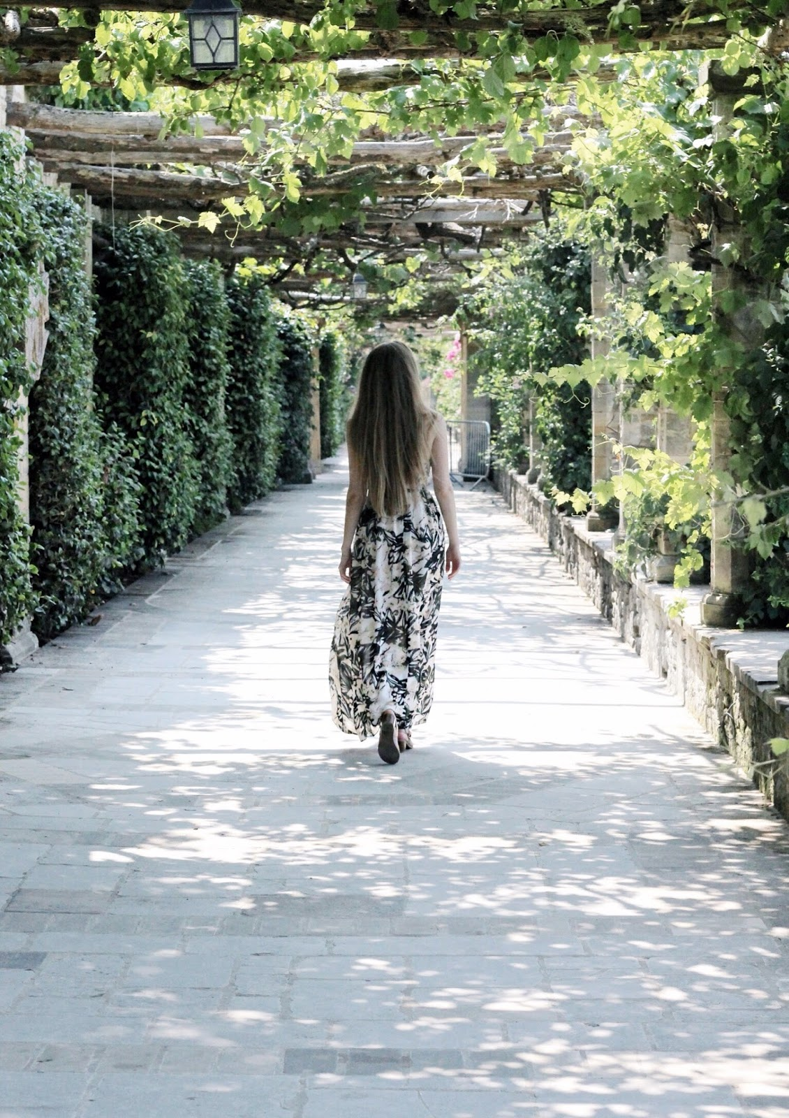 Walking through Italian Gardens at Hever Castle