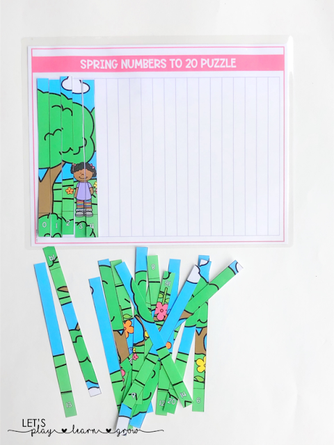 Spring THemed Number Puzzle: Spring Themed Activity Binder