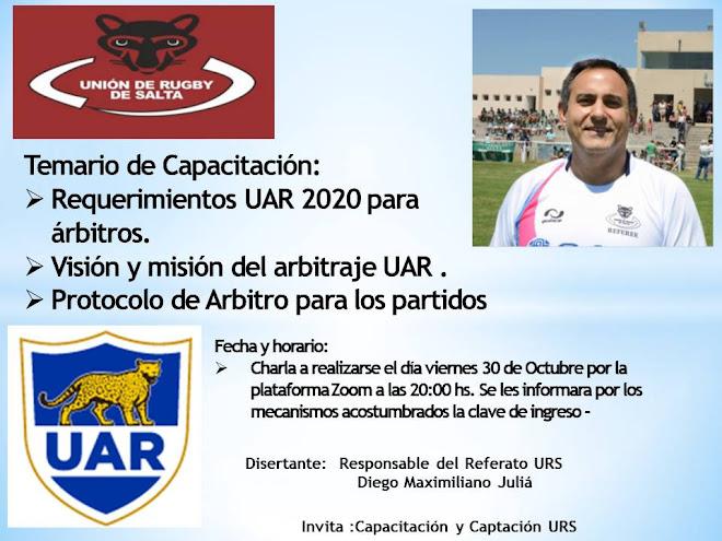 Capacitaciones para árbitros del Unión de Rugby de Salta