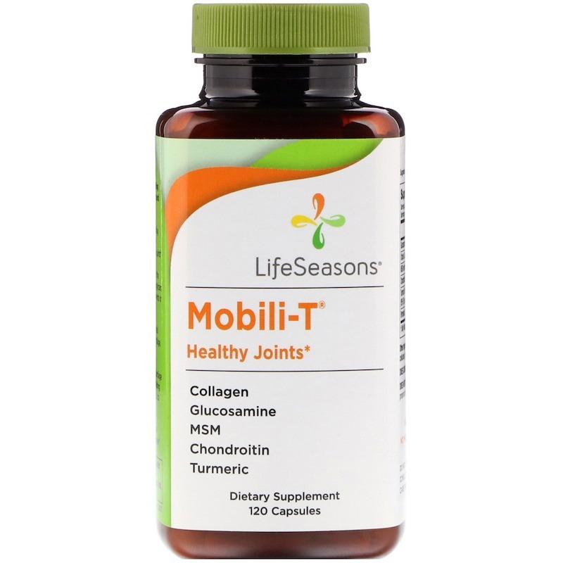 LifeSeasons, Mobili-T, здоровые суставы, 120 капсул