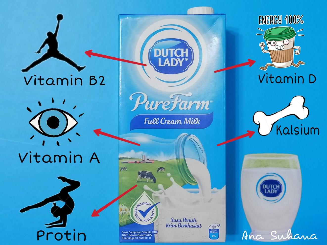 Segelas Susu Dutch Lady PureFarm Pelengkap Permulaan Hari Yang Kuat