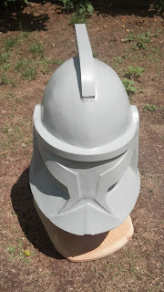 Timbos creations clone trooper helmet the clone wars when the red dried it got a second coat of gray filler primer malvernweather Images