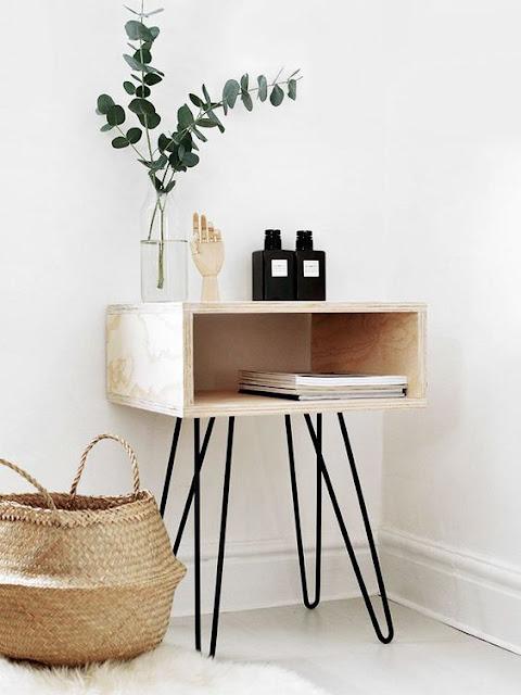 DIY Chevet bois et fer