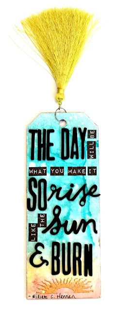 Watercolor Chipboard Sunrise Tag by Dana Tatar for Tando Creative