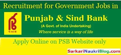 Punjab & Sind Bank Vacancy Recruitment