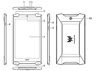 Acer Predator 8 Gaming Tablet - GT-810-15NC user manual PDF Download (English)