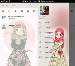 BBM Mod Hijab Pink Unyu v3.2.5.12 Apk Terbaru