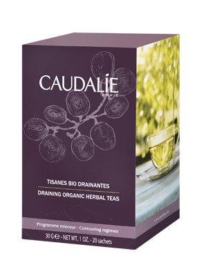 caudalie draining organic herbal tea