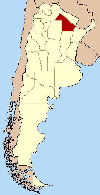 Mapa de localização da provincia del Chaco - Argentina