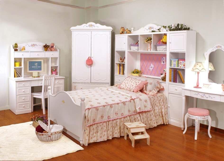 Kids bedroom furniture sets home interior beautiful - White bedroom furniture for girl ...