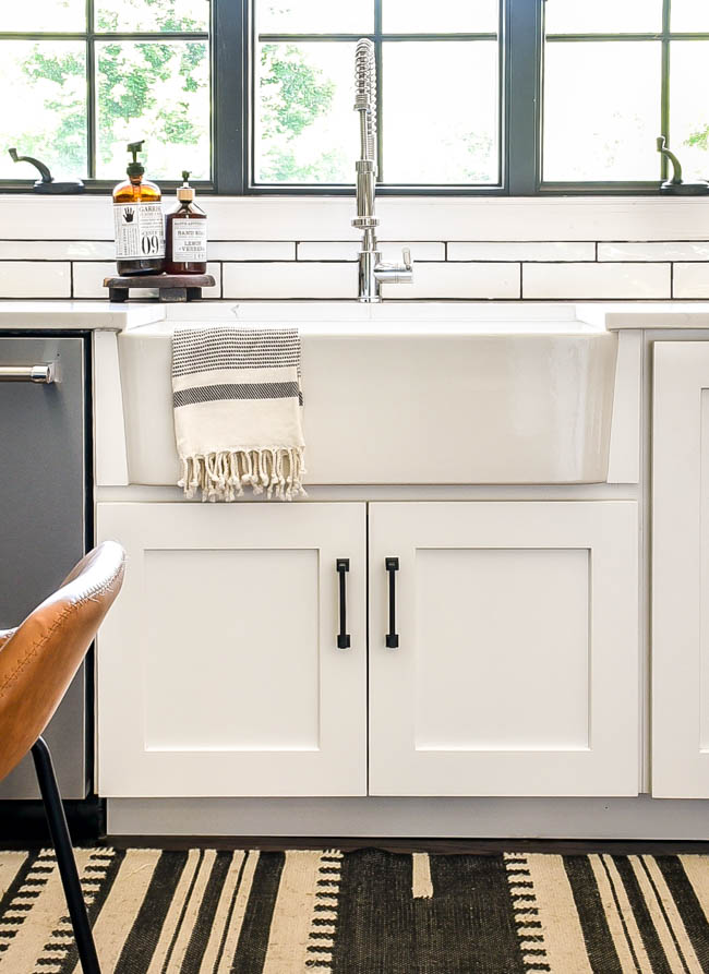 Blanco white farmhouse sink