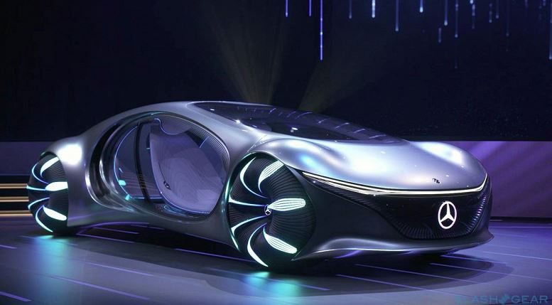 "Mercedes-Benz introduced a symbiotic electric car VISION AVTR in the style of ""Avatar"""