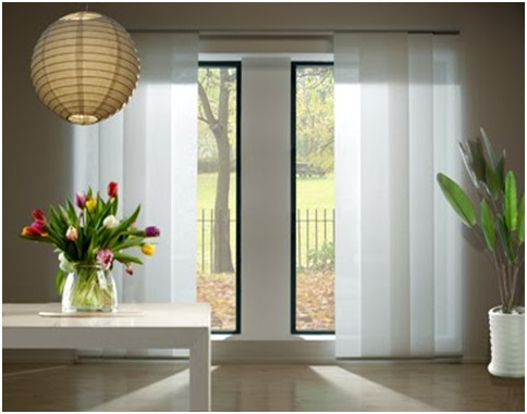 JAPANESE SLIDING PANELS  HOW TO INSTALL JAPANESE PANEL  CURTAINS DESIGN AND IDEAS