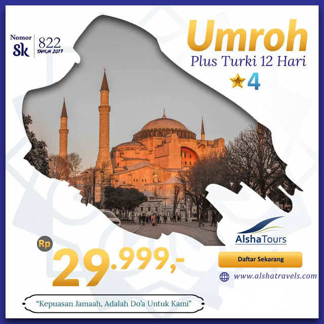 umrah murah plus turki 12 hari