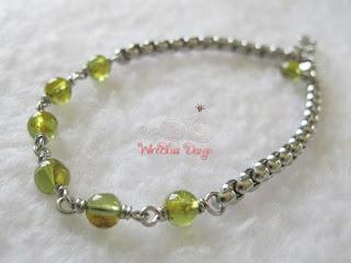 Wire Wrapped Peridot Bracelet by WireBliss