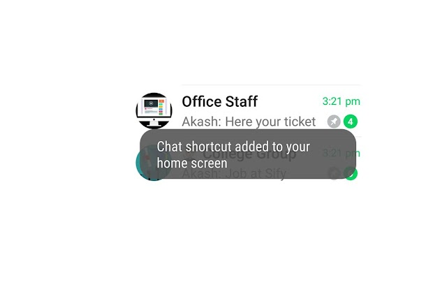 How to add favorite whatsapp chat shortcut on home screen in mobile phone android app