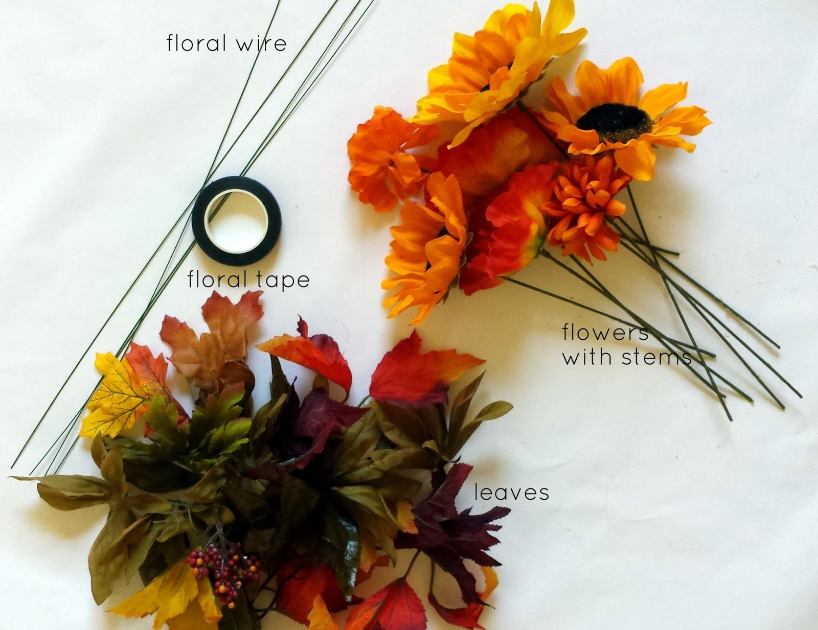 Tied Ribbon Fall Flower Crown