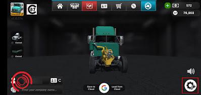 1. Langkah pertama silakan kalian buka Grand Truck Simulator 2 dan pilih Pengaturan