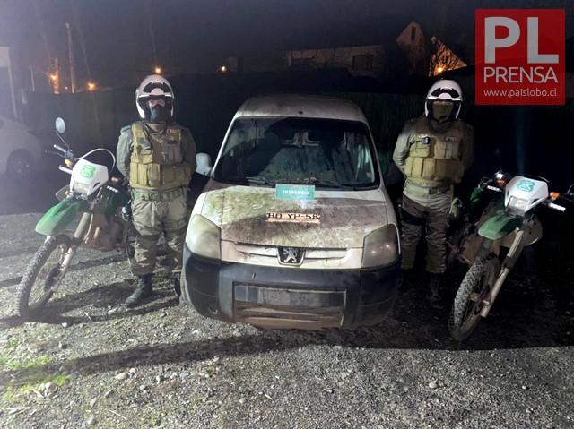 Purranque: Recuperan vehículo robado en Osorno