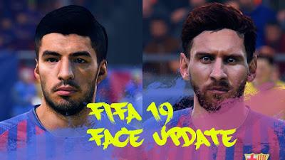 FIFA 19 Faces Luis Suarez & Lionel Messi by CrazyRabbit