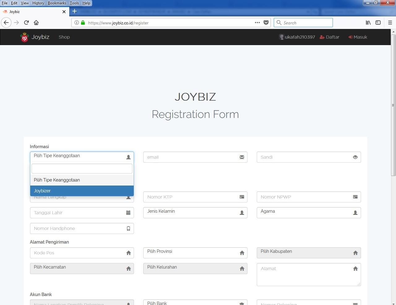 Member Joybizer Joybiz