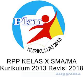 RPP Kurikulum 2013 PPKn Kelas XII  SMA/SMK Revisi 2018