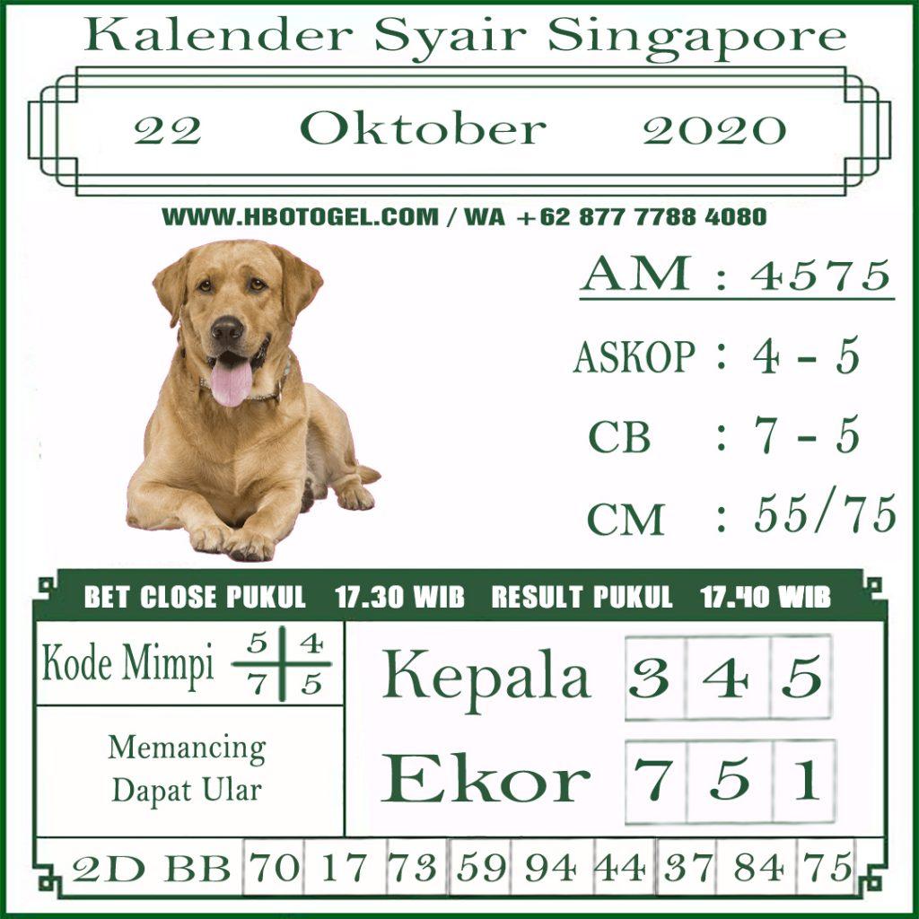 Kode syair Singapore Kamis 22 Oktober 2020 126