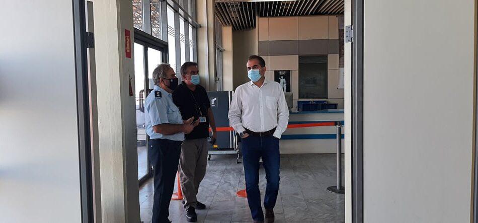 Ο ΔΗΜΑΡΧΟΣ ΚΑΛΑΜΑΤΑΣ  στο Διεθνές Αεροδρόμιο Καλαμάτας