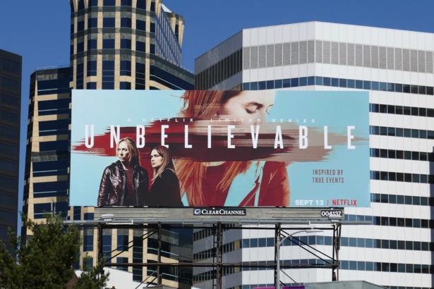Unbelievable series premiere billboard