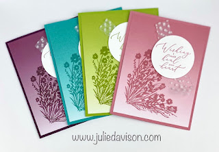 Stampin' Up! Sale-a-Bration Favorites: Oh So Ombre +  Corner Bouquet + Heal Your Heart Cards ~ www.juliedavison.com #stampinup #saleabration #sab2021
